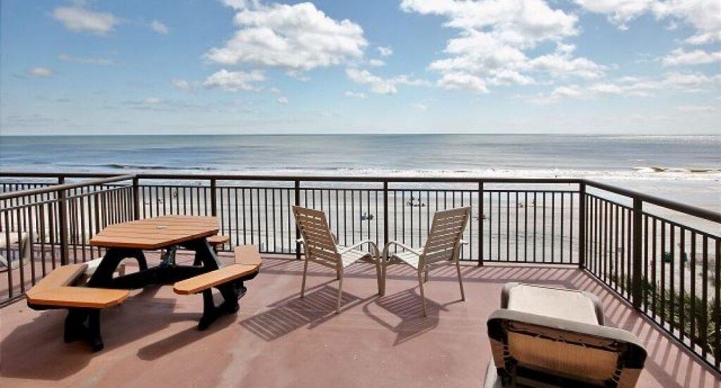 vacation rental view of ocean